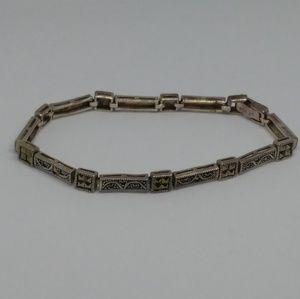 Marcasite Sterling Silver Tennis Bracelet